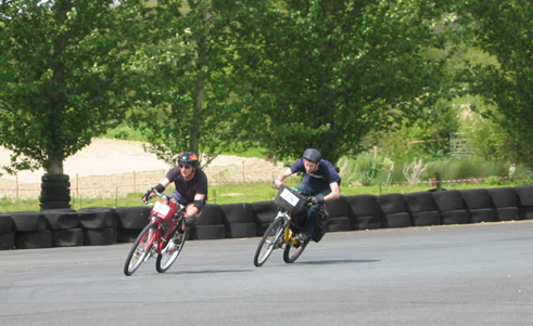 Matthew and Nick on last lap